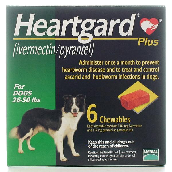 Heartgard Plus Chewable 26-50 #6 6 Tab By Merial Pet Rx(Vet)