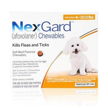 Nexgard Dog 4-10 Lbs 3 Tab By Merial Pet Rx(Vet)