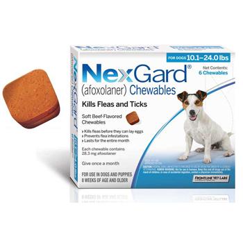 Nexgard Dog 10.1-24 Lbs 6 Tab By Merial Pet Rx(Vet)