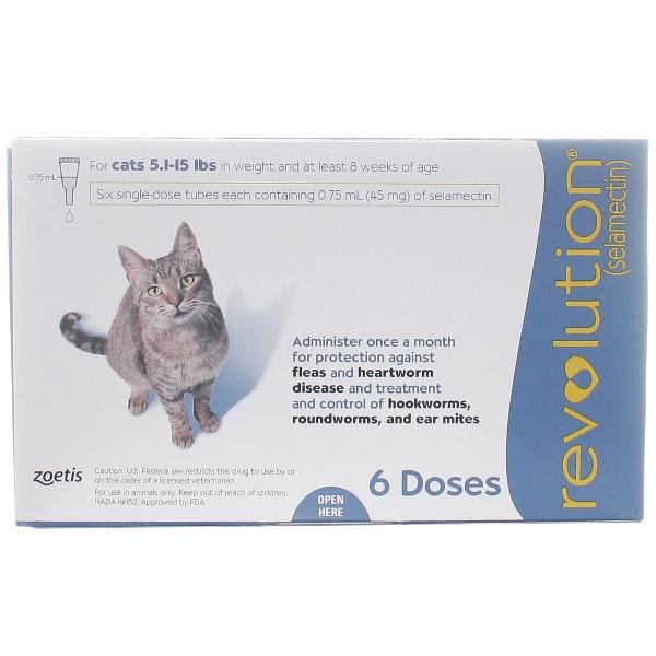 Revolution Cat 5.1-15 6# 6 Dose Sl By Pfizer Pet Rx(Vet)
