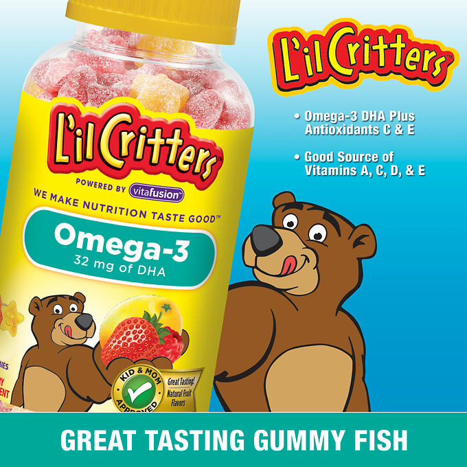 L'il Critters Omega-3 DHA Dietary Supplement, Gummies - 180 count