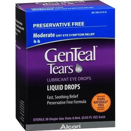 GenTeal Tears Preservative Free Unit Doses 36 pk - 0.03 oz.