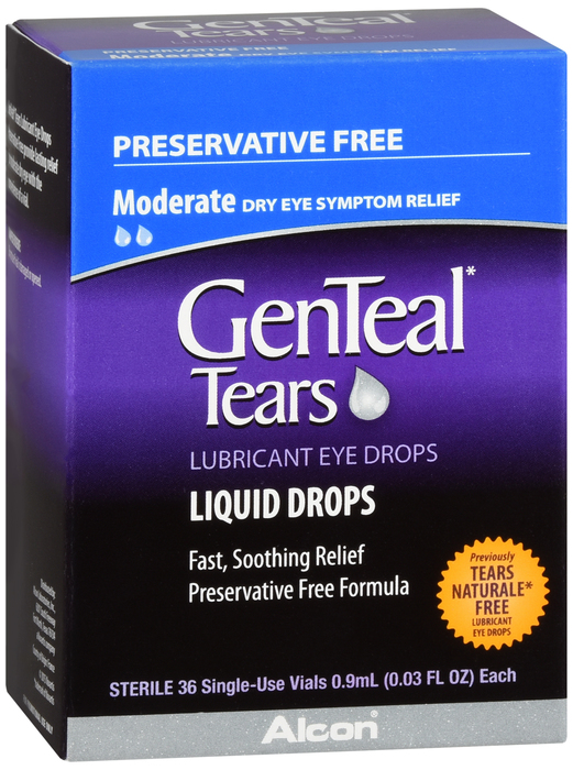 Genteal Tears Preservative Free Unit Doses 36 Pack - 0.03 oz .By Alcon Vision