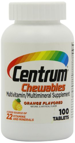 Centrum Multivitamin Supplement Orange Chewable Tablets - 100 Count