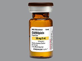 Carboplatin 50mg/5ml Vial 5ml by Teva Pharma