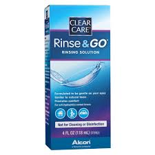 Clear Care Rinsing Solution Rinse & Go - 4 Fl oz
