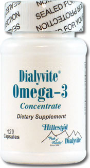 Dialyvite Omega-3 Concentrate 60 Gelcaps By Hillestad Pharma