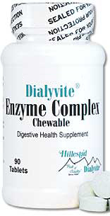 Dialyvite® Enzyme Complex Chewable 90 Tablets By Hillestad Pharma
