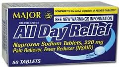 All Day Relief Naproxen 220mg Tab 50 Generic Aleve By Major Pharma
