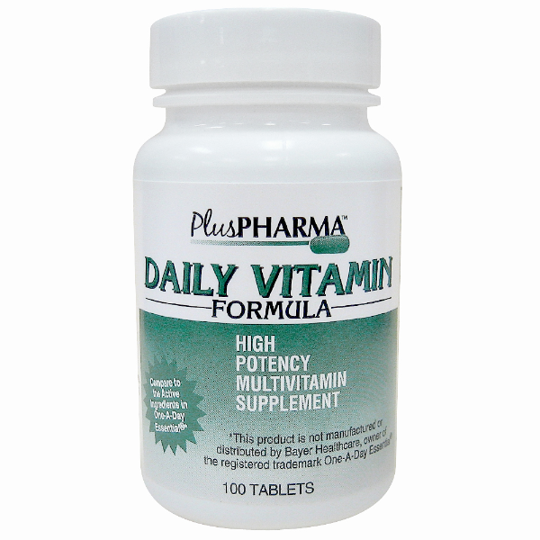 Daily Vitamin Formula 100 Tab By Plus Pharma Generic One-A-Day
