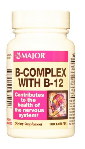 B Complex With B-12 Tab 100 By Major Pharma