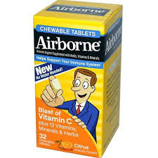 Airborne Chew Citrus 32 Count By Reckitt Benckiser