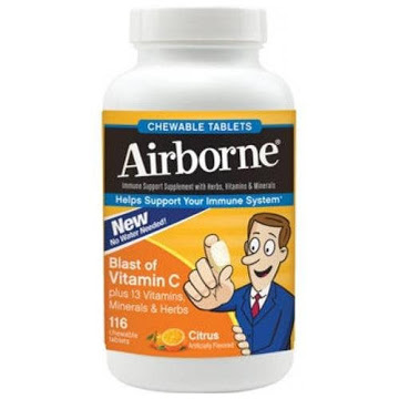 Airborne Chewable Tablets Citrus Flavor Tablets - 116 Count