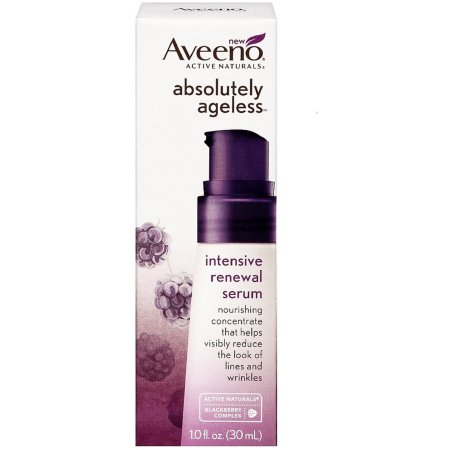 AVEENO Active Naturals Absolutely Ageless Intensive Renewal Serum, Blackberry 1 oz