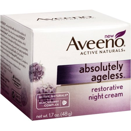 AVEENO Active Naturals Abso Ageless Restorative Night Cream, Blackberry 1.7OZ