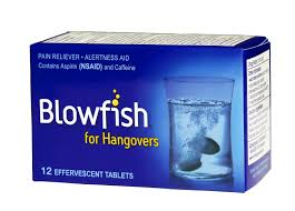 Item No.:OTC2657/D Blowfish For Hangovers 12 Tablet Box 12 Count One Case Of 72 Category: OTC:Analgesic Internal :Blowfish UPC Package Code: 3-75920-00001-1 375920000011 UPC Case Code: 10-3-75920-0000