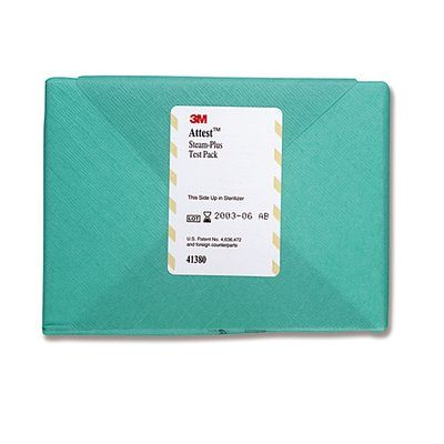 3M Attest Steam-Plus Test Pack Case 41380 By 3M Health Care