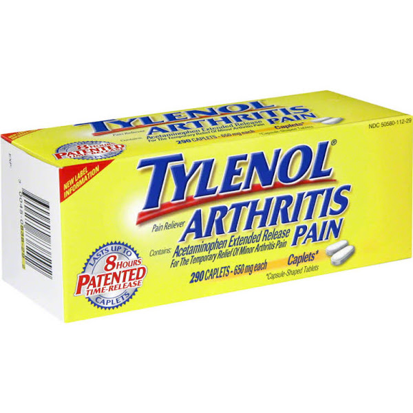 Tylenol Arthritis Pain Pain Reliever/Fever Reducer 650 mg Caplets 290 Tab