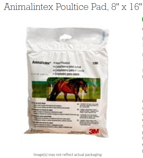 Animalintex Poultice Pad Sheet 8 X 16 8 X16 Case of 10 By 3M