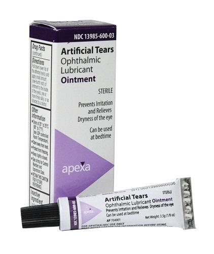 Artificial Tears Ointment (Vet Label) W/ Lanolin 3.5gm By Apexa(Vet)