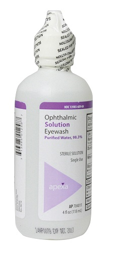 Irrigation Solution Sterile Eye Wash With Boric Acid 4 oz By Apexa(Vet)
