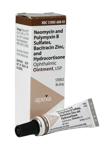 Neopoly Bac Hc Ophthalmic Ointment� 3.5gm By Apexa(Vet)