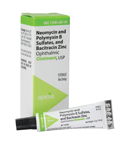 Neopoly Bac Ophthalmic Ointment 3.5gm By Apexa(Vet)