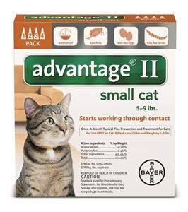 Advantage II - Cats 5-9# Orange 0.4ml X4-Dose