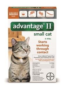 Advantage II - Cats 5-9# Orange 0.4ml X6-Dose