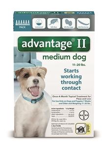 Advantage II - Dog 11-20# Teal