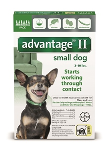 Advantage II - Dog 3-10# Green