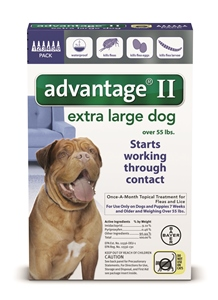 Advantage II - Dog Over 55# Blue