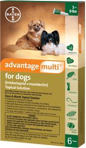 Advantage Multi Dog 3-9# Green