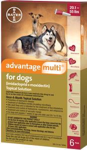Advantage Multi Dog 21-55# Red