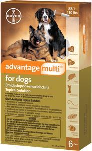 Advantage Multi Dog 88-110# Brown