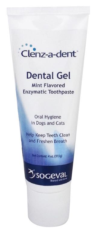 Clenz-A-Dent Dental Gel 4 oz By Ceva(Vet)