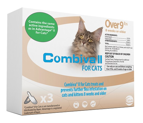 Combiva II Cat And Kitten - Large (Over 9Lbs) 12X3-Dose Cards� C12 By Ceva(Vet)