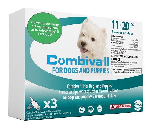 Combiva II Dog And Puppy - Medium (11 - 20Lbs) 12X3-Dose Cards� C12 By Ceva(Vet)