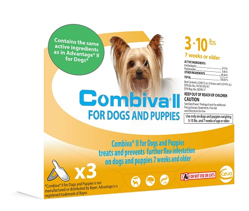 Combiva II Dog And Puppy - Small (3-10Lbs) 12X3-Dose Cards� C12 By Ceva(Vet)