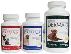 Derma 3 Softgel Caps For Small Breed B60 By Ceva(Vet)
