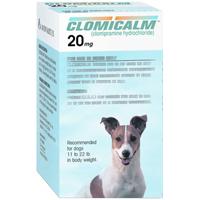 Clomicalm Tablets 20mg (Blue) 11-22Lbs Canine B30 By Elanco(Vet)