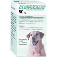 Clomicalm Tablets 80mg (Green) 44.1-176Lbs Canine B30 By Elanco(Vet)