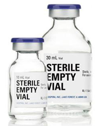Empty Sterile Fliptop Vials Clear 25 X10ml � B25 By Hospira
