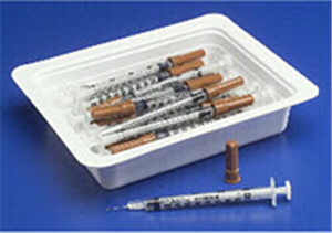 Allergy Tray Monoject 0.5cc With Permanently Attached Needle 28G X1/2 Tray Byca