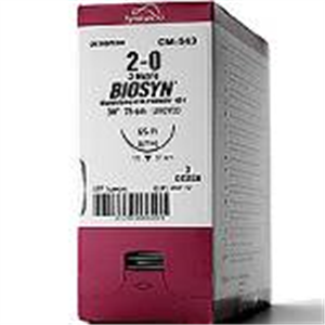 Biosyn #2-0 (Gs-21) 1/2 Circle Taper Point 37mm / 30 Violet Glycomer� B36 By Me
