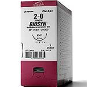 Biosyn #5-0 (P-13) 3/8 Circle Premium Reverse Cutting 13mm / 18 Undyed Glycomer