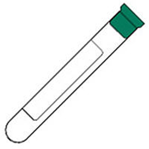 Blood Collection Tubes Monoject Green Stopper - Sodium Heparin 2ml Draw 10.25X50