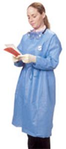 Chemoplus Splash Resistant Gown Closed Front Wraparound Style; Blue Large C30 By Cardinal Item No.:Vet-OTC-MW 039746<Br><Br>Mfr: Cardinal<Br>SKU: 039746<Br>Unit: C30<Br>Mfr Code: Ct5100<Br>Case Lot: 0