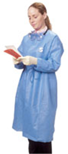 Chemoplus Splash Resistant Gown Closed Front Wraparound Style; Blue XL C30 By Ca