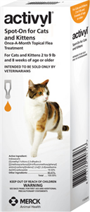 Activyl 0.51ml Kittens (2-9 Lbs) Orange 6 X6-Dose� B36 By Merck Animal Health